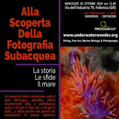Alla Scoperta della Fotografia Subacquea 30-10-19 Photogroup Follonica