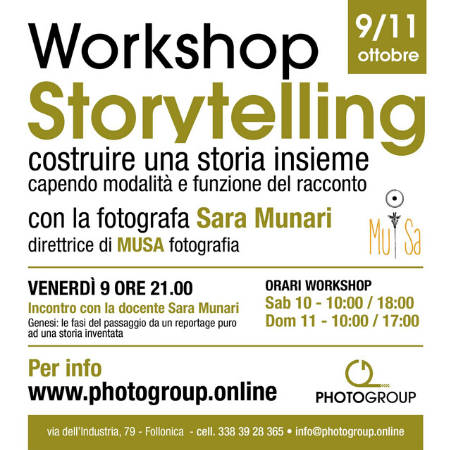 Storytelling fotografico Photogroup Follonica 9-11 ottobre 2020