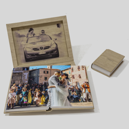 Fotolibro con minialbum photogroup follonica fotografo matrimoni